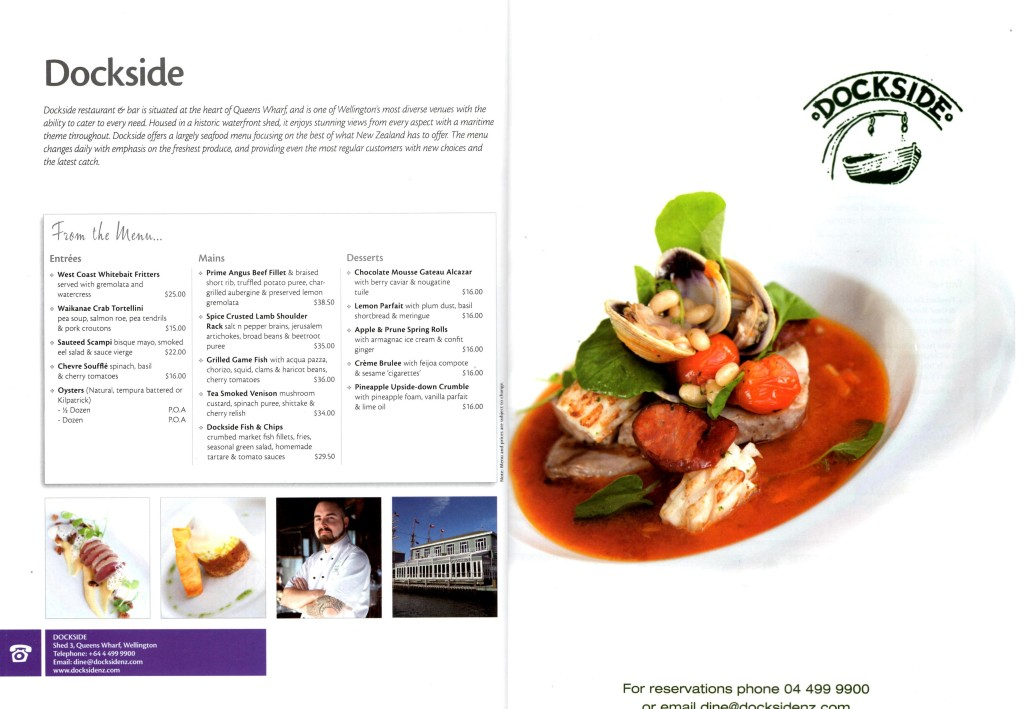 NZ Best Dining Guide 2012 2 page
